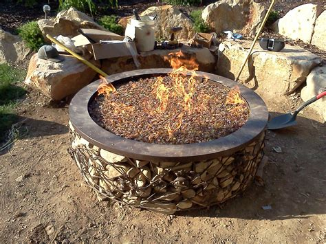gas pit rocks pit design ideas