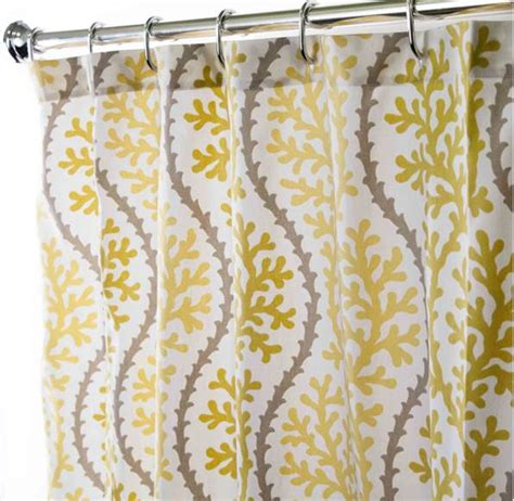 yellow fabric shower curtains fabric shower curtains in our fabric or yours