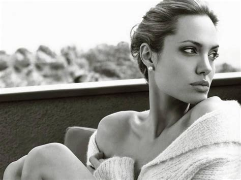 angelina jolie wallpaper black and white angelina jolie black and white widescreen wallpaper