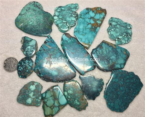 natural turquoise natural turquoise polished rough slab yd104 china