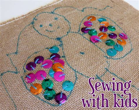embroidery crafts projects 33 best images about preschool sewing on