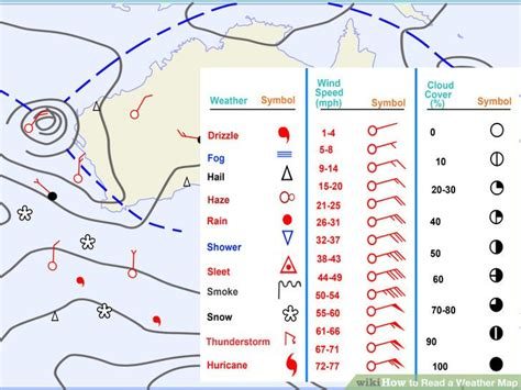 how to read a map how to read a weather map with pictures wikihow