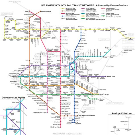 la subway map la metro subway map