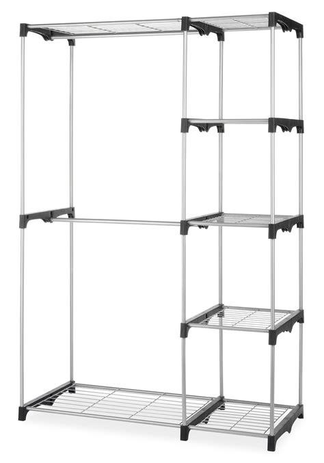 whitmor rod closet freestanding silver