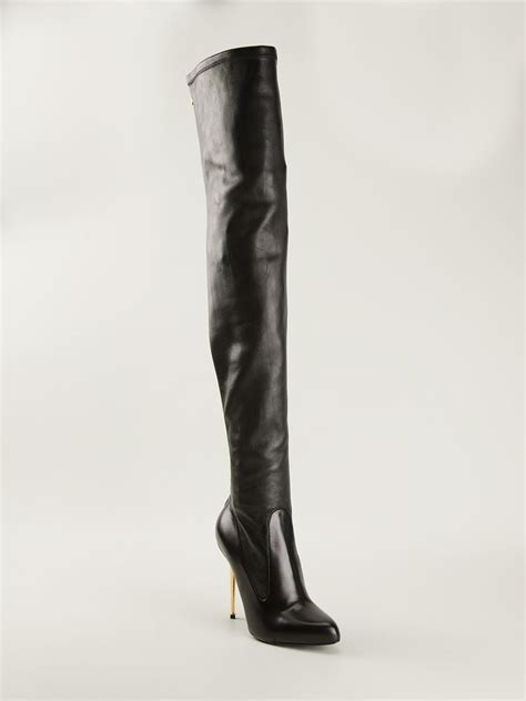 tom ford boots tom ford overtheknee boots in black lyst