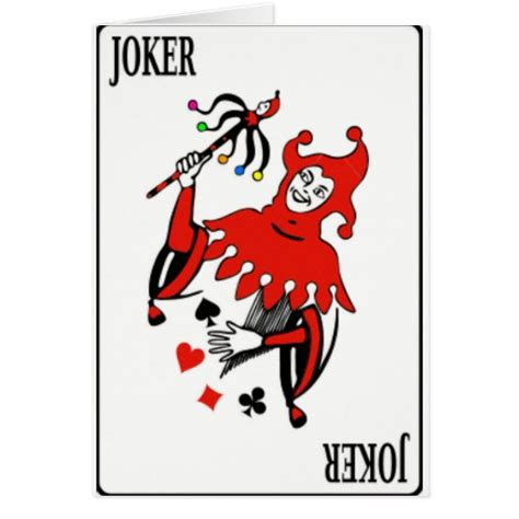 printable joker card card deck joker zazzle