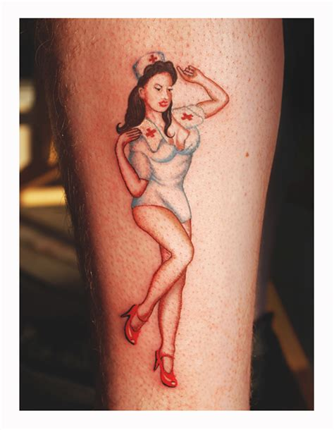 pinup with tattoo photo pin up nurse tattoo by dadenko on deviantart