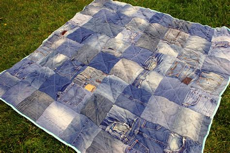 jeans blanket pattern diy denim quilt icandy handmade