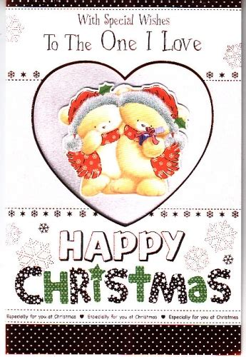 special wishes     love  christmas embossed personalised braille card
