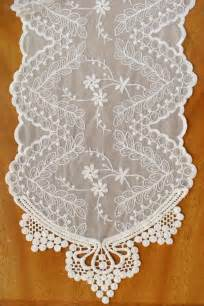 Ivory Lace Table Runner by Ivory Lace Runner 74in