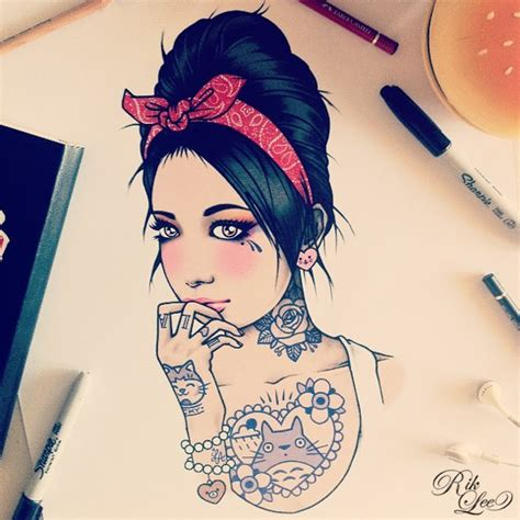 imagenes pin up tatuadas el arte de rik lee arte taringa