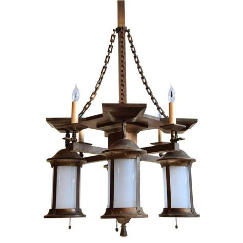 gas chandelier gas electric mission chandelier with original glass