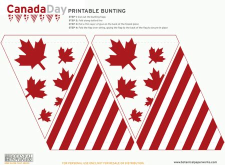 Home Decor Victoria Bc free printables flag bunting for canada day blog
