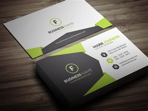 geometric style corporate business card template 187 free