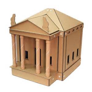 cardboard house silky paws temple inspired cardboard cat house