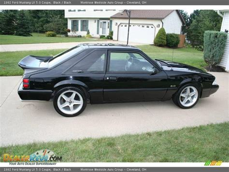 1992 ford mustang lx 5 0 coupe black black photo 15