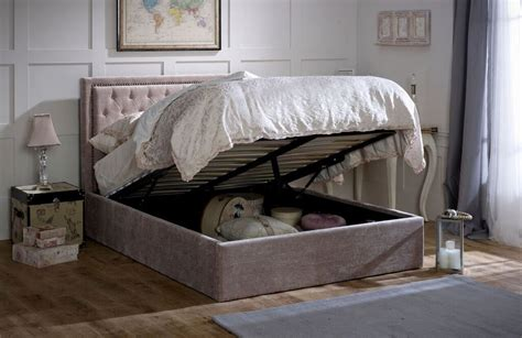 limelight beds limelight beds rhea 6ft superking ottoman bedstead mink