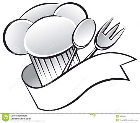 clipart cuoco utensils and chef hat clipart