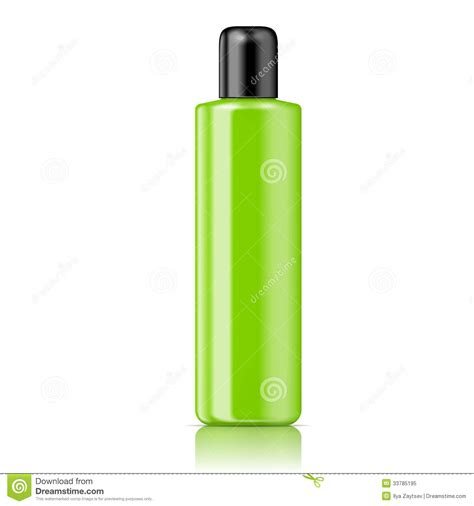 color tubular bottle template royalty free stock photo