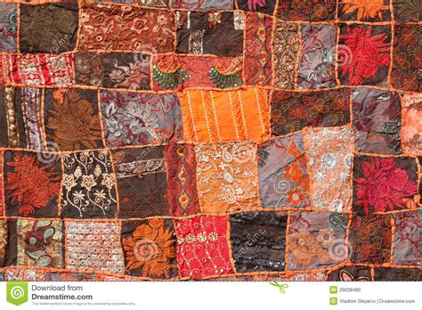 indian patchwork carpet stock photo image of colour