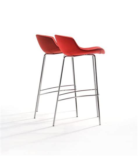 three legged stool of lobbying fixed design stool chromed polyurethane shell idfdesign