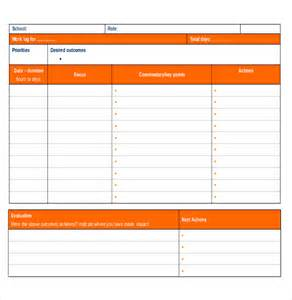daily work record template log templates 15 free word excel pdf documents