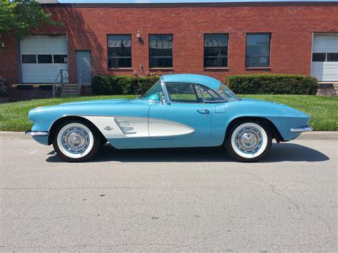 vintage corvette blue 1961 corvette blue bright blue 283 230 hp pg both