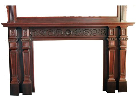 Ori Mantel renaissance mahogany mantel for sale antiques