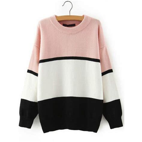 Neck Striped Sweater best 25 color block sweater ideas on color