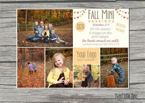 Mini Session Template 5x7 Marketing Template Fall Mini Session Template And Matching Mini Session Templates For Lightroom
