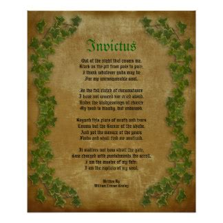 printable version of invictus invictus posters zazzle