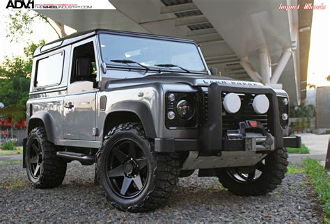 land rover defender black land rover defender adv6 truck spec wheels adv 1 wheels