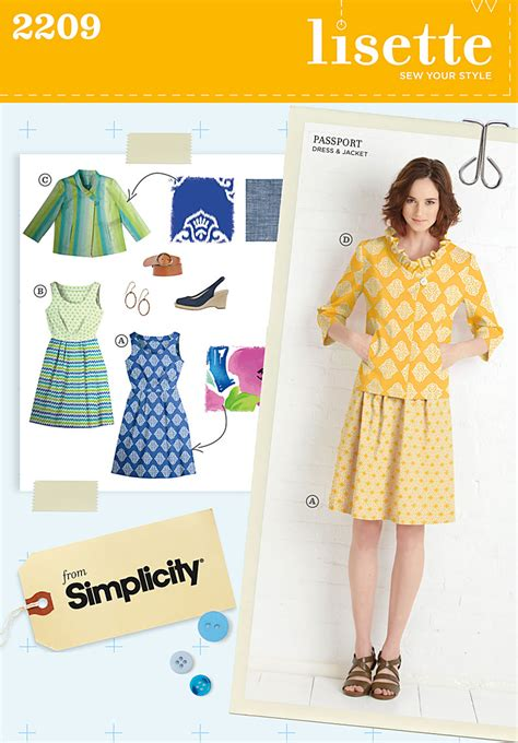 pattern review lisette simplicity 2209 misses dresses jacket