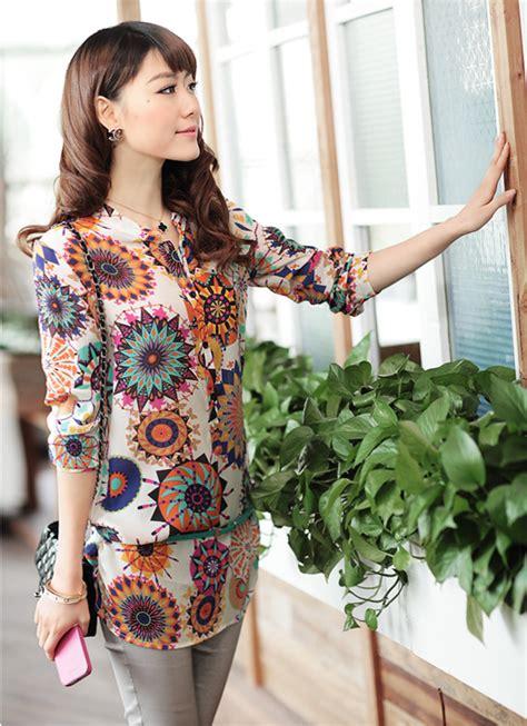 Kemeja Catton Impor 5 kemeja wanita lengan panjang motif import model terbaru jual murah import kerja