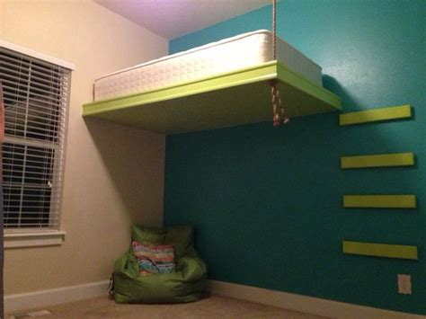 hanging loft bed best 25 suspended bed ideas on pinterest tropical kids