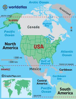 united states map worldatlascom