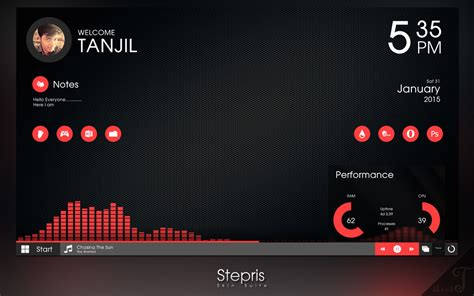 Buy Clock by Updated Stepris V1 3 For Rainmeter By T Projects On