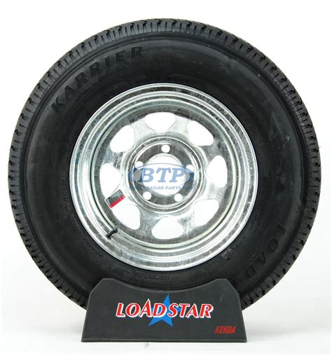 boat r wheels boat trailer tire st205 75r14 radial on galvanized wheel 5