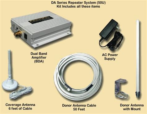 dual band office signal booster repeater system increase cellular signal att verizon and sprint