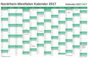 Kalender 2018 Nrw Arbeitstage Kalender 2017 Nordrhein Westfalen