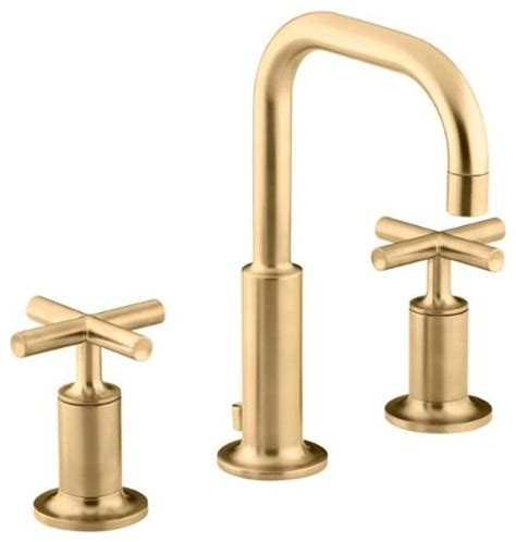 Industrial Bathroom Faucets by Kohler K 14406 3 Purist Widespread Bathroom Faucet