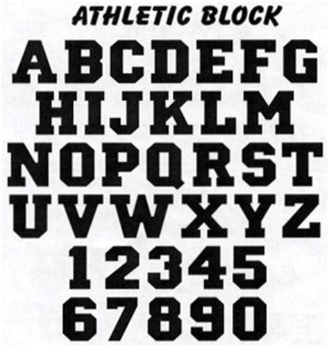 College Block Letter Font Pin Athletic Block Font On