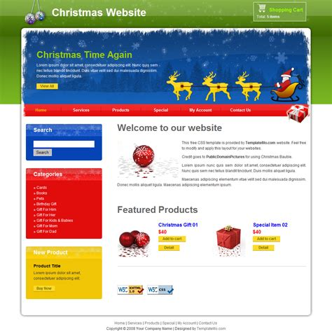 christmas themes websites nice free christmas website templates contemporary