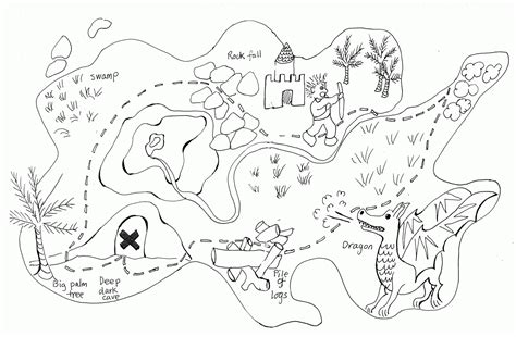 printable pirate treasure map for kids adult coloring treasure map coloring pages for kids coloring home
