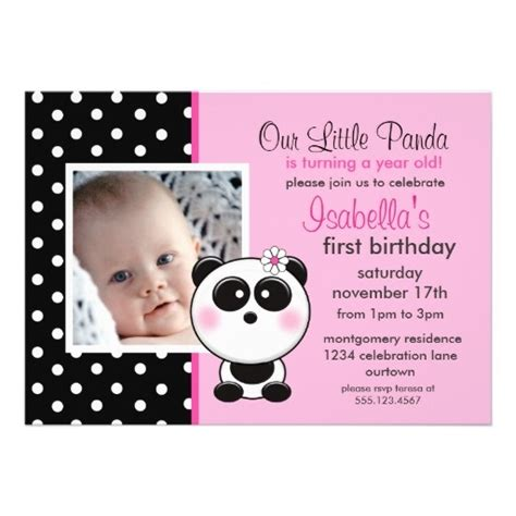 Panda Birthday Card Template by Baby Panda Invitations Cake Ideas And Designs