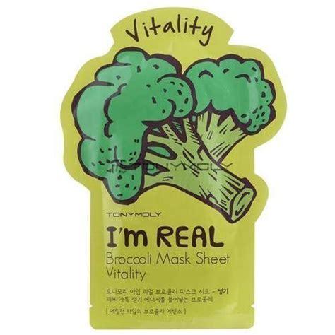 Masker Tony Moly I M Real tonymoly i m real broccoli mask sheet vitality reviews