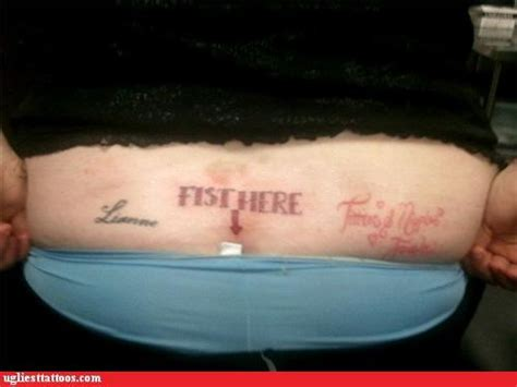 gross tattoo fail ugliest tattoos gross page 4 bad tattoos of horrible