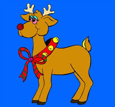 imagenes de navidad venados dibujo de reno pintado por venado en dibujos net el d 237 a 27