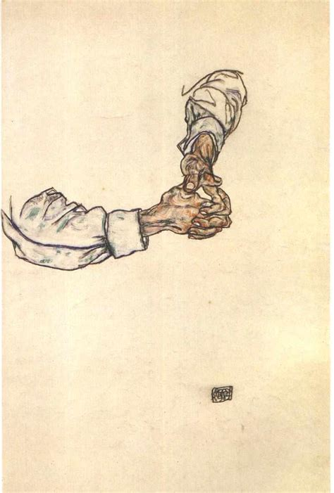 egon schiele hand drawings www imgkid com the image