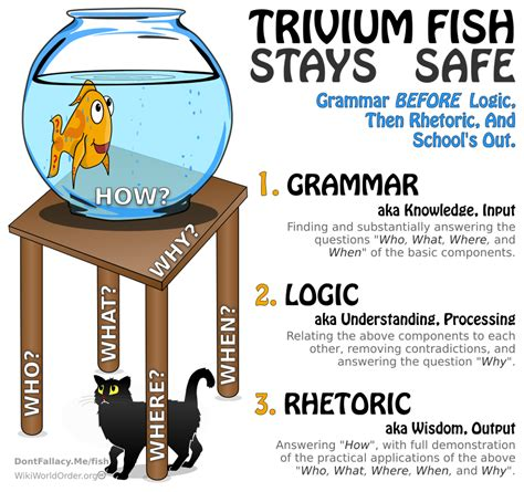 trivium method of thinking and learning trivium fish don t fallacy me logic game